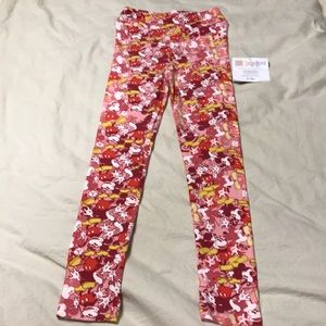NEW LuLaRoe Girls Mickey Mouse Leggings L/Xl